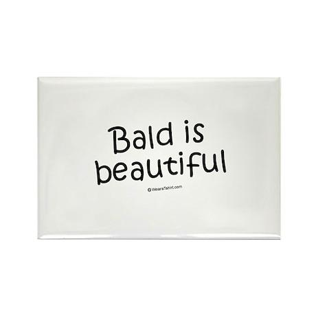 Bald is beautiful / Baby Humor Rectangle Magnet (1