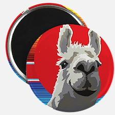 Silly Llama by Anne Alden Magnet