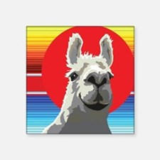 "Silly Llama by Anne Alden Square Sticker 3"" x 3"""