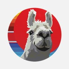 Silly Llama by Anne Alden Round Ornament