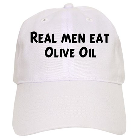 Men eat Olive Oil Cap