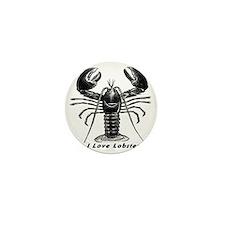 I Love Lobster Mini Button