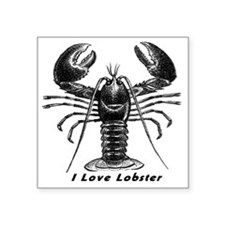 "I Love Lobster Square Sticker 3"" x 3"""