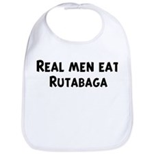 Men eat Rutabaga Bib