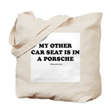 My other car seat / Baby Humor Tote Bag