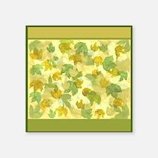 "Vineyard leaves Square Sticker 3"" x 3"""