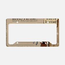 Cowboy Birthday Party Invitat License Plate Holder