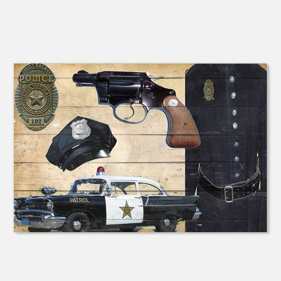 Police Postcards (Package of 8)