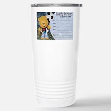 Cowboy Teddy Bearl Birt Travel Mug