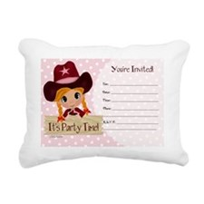 Cowgirl Birthday Party I Rectangular Canvas Pillow