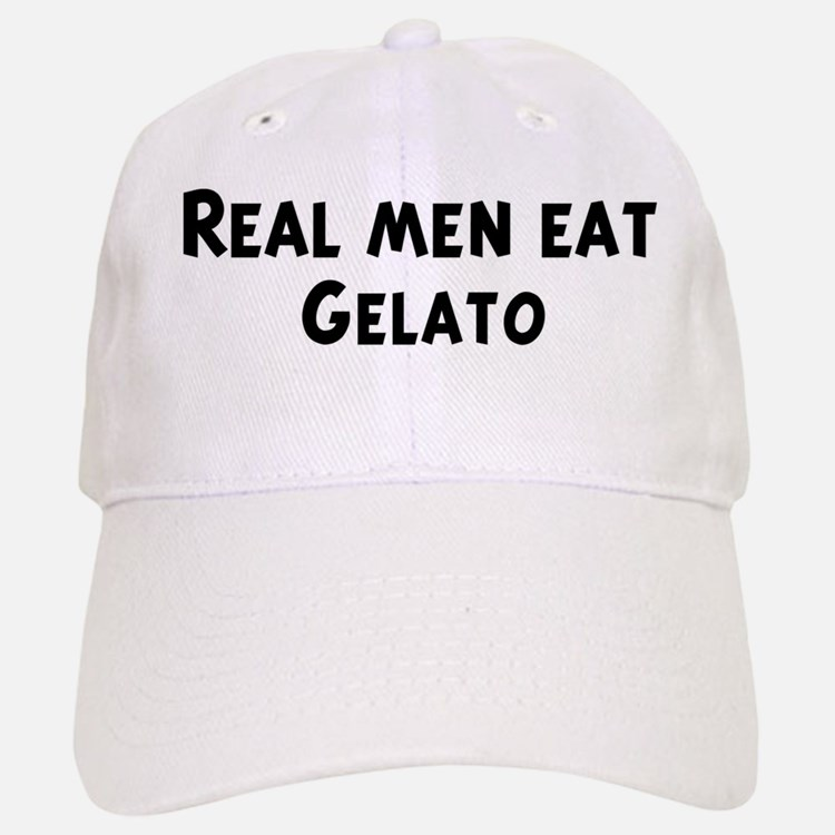 Men eat Gelato Baseball Baseball Cap