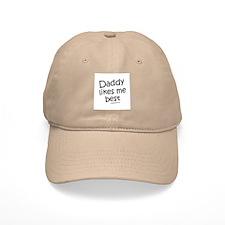 Daddy likes me best / Kids Humor Baseball Cap