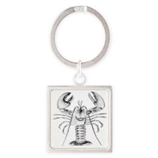 Lobster Square Keychain