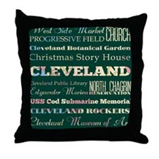 Cleaveland poster Throw Pillow