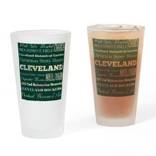 Cleaveland poster Drinking Glass
