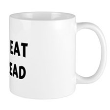 Men eat Garlic Bread Coffee Mug