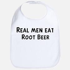 Men eat Root Beer Bib