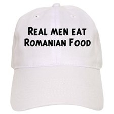 Men eat Romanian Food Baseball Cap