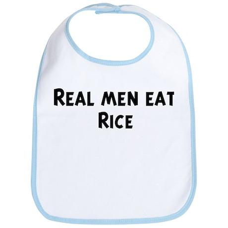 Men eat Rice Bib