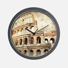 Vintage Roman Coloseum Wall Clock