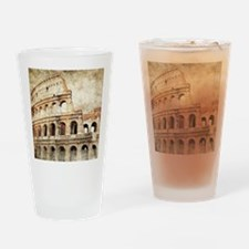 Vintage Roman Coloseum Drinking Glass