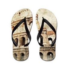 Vintage Roman Coloseum Flip Flops