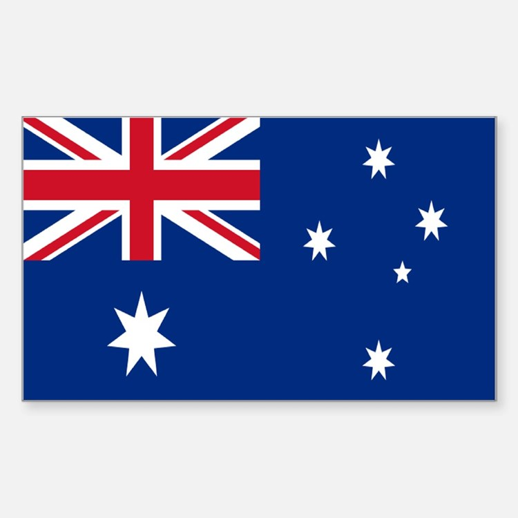 Australia flag Sticker (Rectangle)