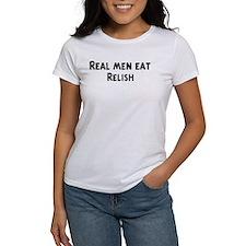 Men eat Relish Tee