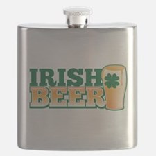 IRISH Beer pint with a shamrock Flask