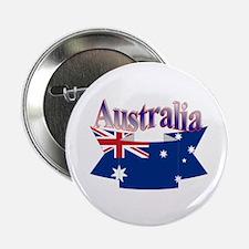 Aussie flag ribbon Button