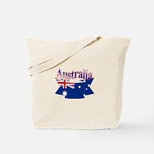 Aussie flag ribbon Tote Bag
