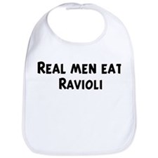 Men eat Ravioli Bib