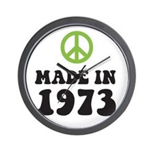 Made In 1973 Peace Symbol Wall Clock