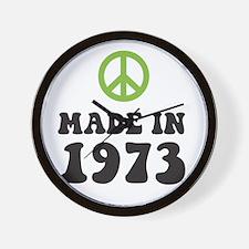 Made In 1973 Peace Symbol Wall Clock
