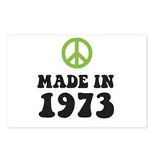 Made In 1973 Peace Symbol Postcards (Package of 8)
