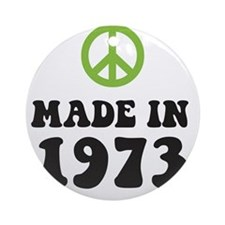 Made In 1973 Peace Symbol Ornament (Round)