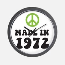 Made In 1972 Peace Symbol Wall Clock