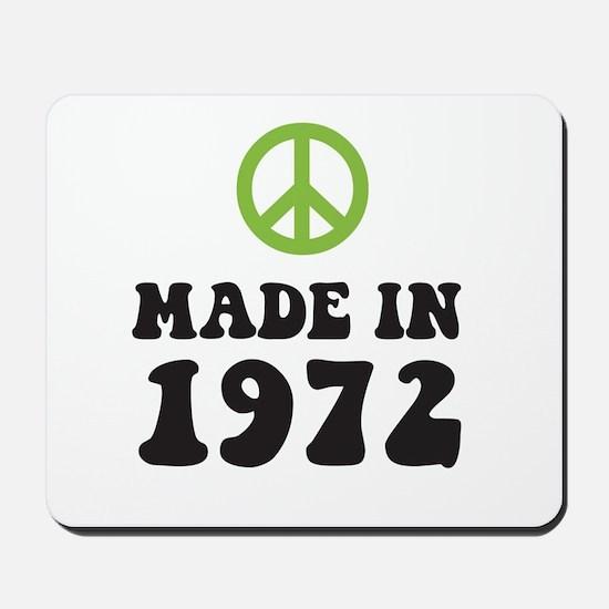 Made In 1972 Peace Symbol Mousepad