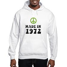 Made In 1972 Peace Symbol Jumper Hoody