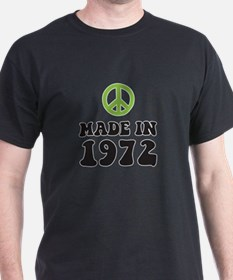 Made In 1972 Peace Symbol T-Shirt