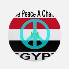 Egypt Give Peace A Chance Round Ornament