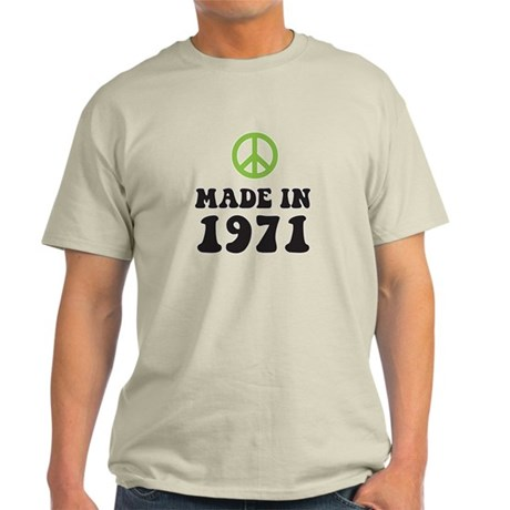 Made In 1971 Peace Symbol Light T-Shirt