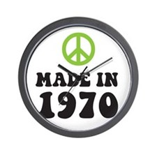 Made In 1970 Peace Symbol Wall Clock