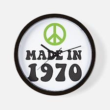 Made In 1970 Peace Symbol Wall Clock
