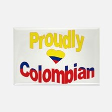 Proudly Colombian Rectangle Magnet