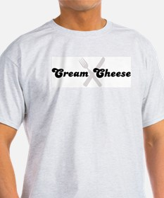Cream Cheese (fork and knife) T-Shirt