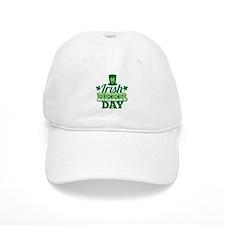 IRISH BEER DAY with a shamrock hat Baseball Cap