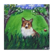 adorable corgi Tile Coaster