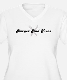 Burger And Fries (fork and kn T-Shirt