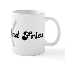 Burger And Fries (fork and kn Coffee Mug
